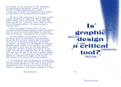 Le design graphique est-il un OUTIL CRITIQUE ? par Thierry Chancogne | actions de concertation citoyenne | Scoop.it