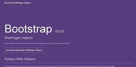 Bootstrap 3.0 Helpers - codice a mano - DotNetCampania | codice a mano | Scoop.it