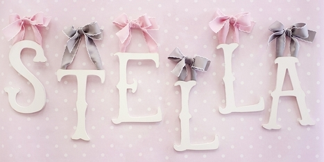 Wooden Letters Add an Elegant Touch to Your Nursery   Jack and Jill Boutique   Scoop.it
