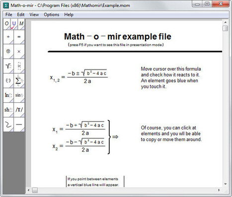 Math-o-mir: write mathematical equations on your PC - gHacks Technology News | Latest Tech News, Software And Tutorials | Algebra Resources | Scoop.it