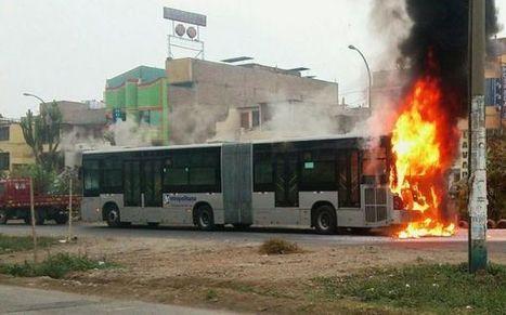 Bus del Metropolitano quedó calcinado en Comas pero no hay heridos | Artes & Letras | Scoop.it