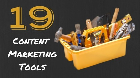 19 Content Marketing Tools: The Humongous Guide | digital marketing strategy | Scoop.it
