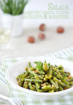 Salade de haricots verts aux olives, ciboulette & noisettes   Le Petit Creux   Scoop.it