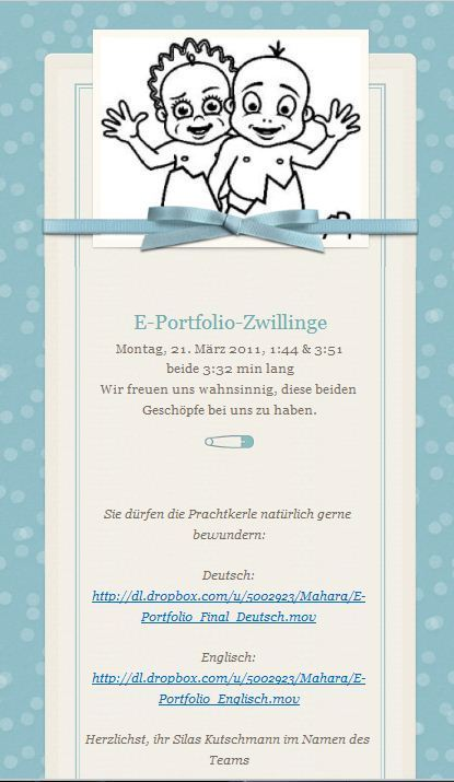 «e-portfolio» blog - [video] E-Portfolio Zwillinge | mind the app | Scoop.it