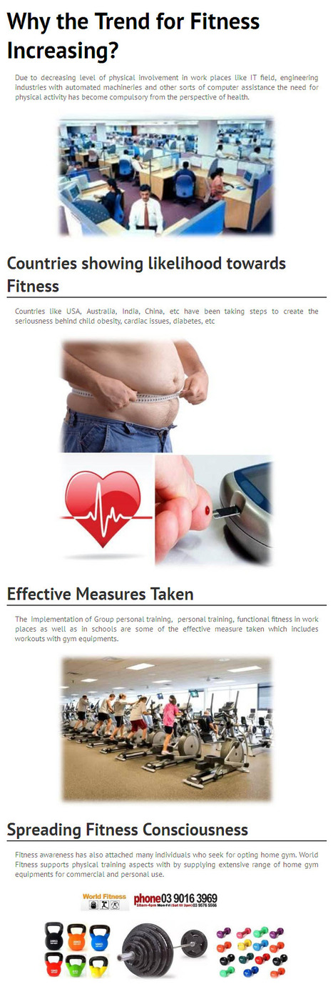 Why the Trend for Fitness Increasing? - www.worldfitness.com.au   worldfitness   Scoop.it