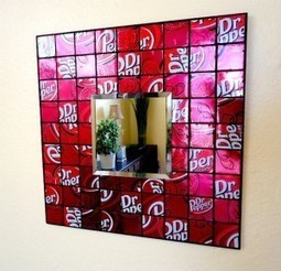 Recycled soda can mirror | DIY-UPCYCLING-RECYCLED | Scoop.it