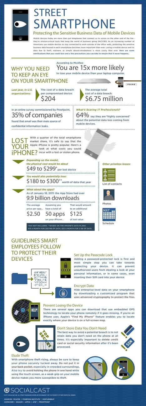 Mobile Theft: Why You Should Secure Your Phone [Infographic] | Social media and education | Scoop.it