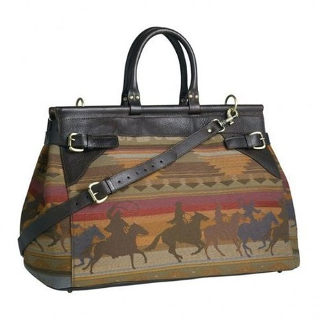 Open Range: Zink's Canvas Carryall - Cowboys and Indians (blog)   Leather Briefcases Genuine Italian Brand   Scoop.it