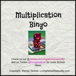 Multiplication Bingo Game for struggling Math Students | elementary math | Scoop.it