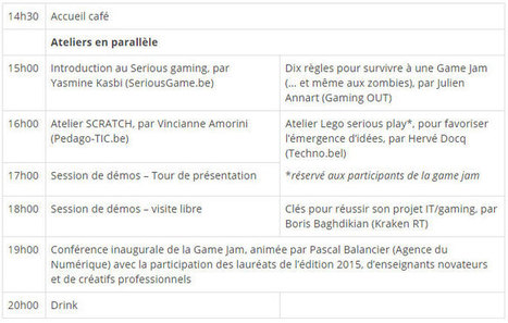 Ateliers d'initiation au gaming et au serious gaming (Mons, 07/10/2016) | SeriousGame.be | Scoop.it