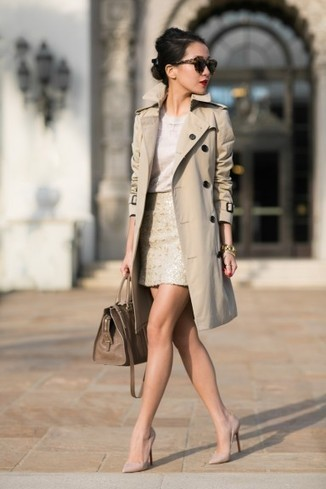 Shades of Beige :: Honey trench & Sequin skirt : Wendy's Lookbook | Fashion in the City | Scoop.it