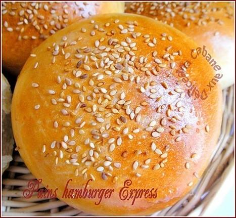 Pain hamburger maison {recette express}   La cuisine de Djouza recettes faciles et rapides   Boulange   Scoop.it