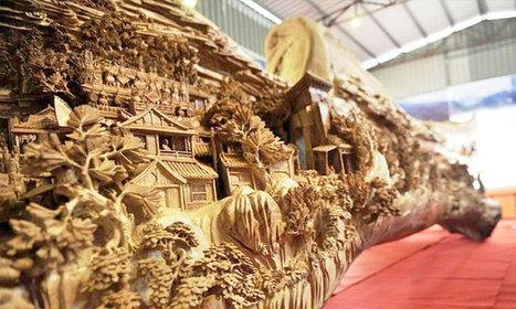 Un artiste a travaillé 4 années pour réaliser la plus spectaculaire et la plus longue sculpture en bois du monde | ART's news | Scoop.it