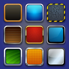 Free Apps Icons Textures 2 - eps « Vector | Icon | Wallpaper | Vector Icon Wallpaper | Scoop.it