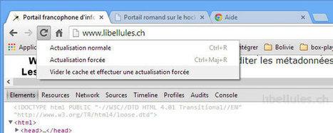 Google Chrome - Vider le cache et effectuer une actualisation forcée   Geeks   Scoop.it