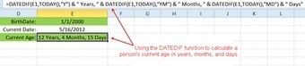 Calculate Your Current Age with the Excel DATEDIF Function   ITQ   Scoop.it