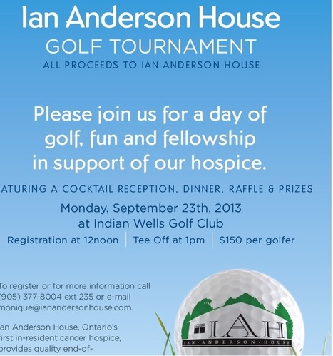 Ian Anderson House – Charity Golf Tourney Sept. 23rd | Port Credit to Clarkson Community Corridor | Scoop.it