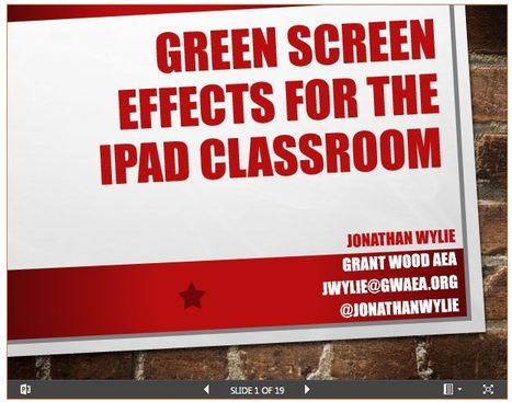 Green Screen Effects for an iPad Classroom by Jonathan Wylie | mrpbps iDevices | Scoop.it
