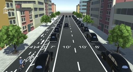 How to Add Bike Lanes Without Messing Up Traffic Flow: An Animated Visualization | green infographics | Scoop.it