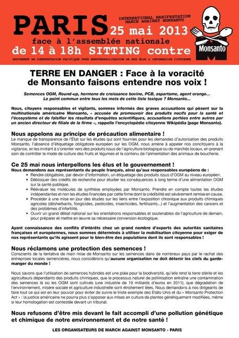 La manif contre Monsanto, c'est le 25 mai partout dans le monde ! | Abeilles, intoxications et informations | Scoop.it