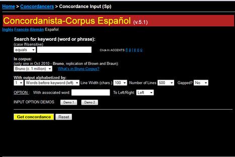 CORPUS CONCORDANCE SPANISH   Spanish galore   Scoop.it