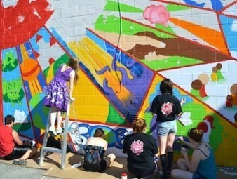 Mural brings literacy to life | Literacy, Education and Common Core Standards in School and at Home | Scoop.it