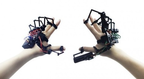 This weird exoskeleton adds the sensation of touch to VR | 3D Virtual-Real Worlds: Ed Tech | Scoop.it