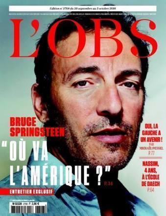 Bruce Springsteen en couv' de l'Obs - le Blog Bruce Springsteen | Bruce Springsteen | Scoop.it