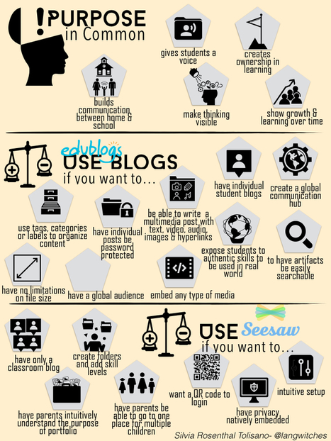 Digital Portfolios: Blogs VS. Seesaw | aect | Scoop.it