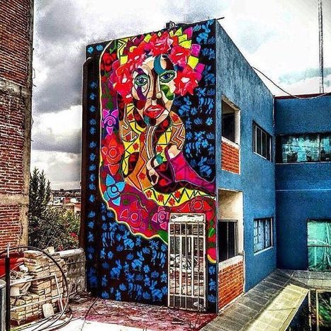 Global Street Art • Big and colourful wall action from @camemoreno ... | PEDRO LUQUE | Scoop.it