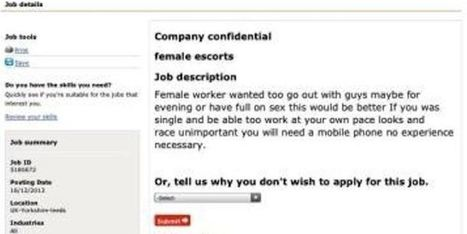 Prostitute Jobs Advertised On Direct Gov Website | government | Scoop.it