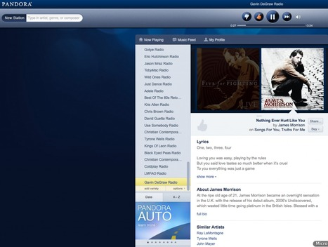 Pandora Says August Listener Hours Rose 16 Percent   Music business   Scoop.it