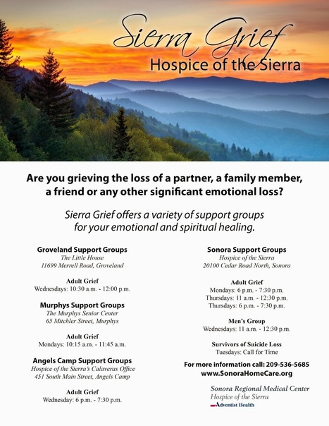 Hospice of the Sierra Launches New Grief Support Program | Hospice Education | Scoop.it