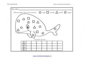 Colorea y cuenta las formas geométricas trabajamos la atención | Materiales de Orientación Andújar | Scoop.it
