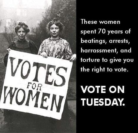 We Ladies are 53% of the population. Don't waste your vote! | Herstory | Scoop.it
