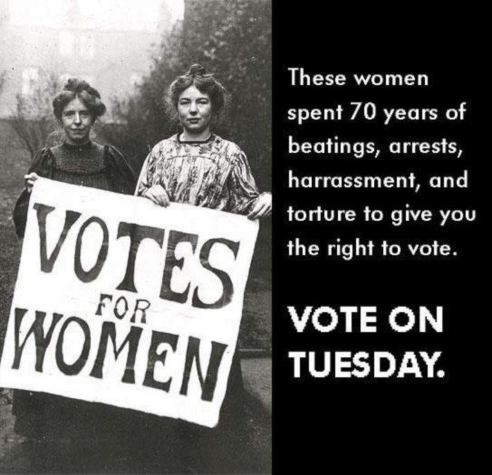 We Ladies are 53% of the population. Don't waste your vote!   Herstory   Scoop.it