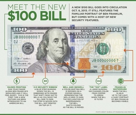 Meet the New 100 Dollar Bill [Infographic] | Infographics and Other Tech Tools | Scoop.it