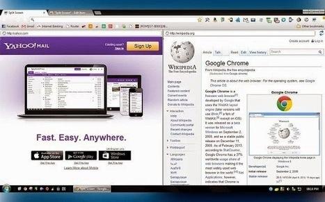 Consulter deux sites en même temps sur Google Chrome grâce à Split Screen | teaching with technology | Scoop.it