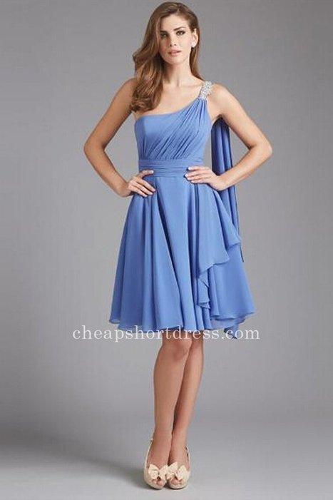 Cheap Blue Chiffon Short Bridesmaid Dresses [Short Bridesmaid Dresses] - $113.00 : Short dresses | Homecoming Dresses | Short Bridesmaid Dresses | Cocktail Dresses | Prom & Homecoming Dresses | Scoop.it