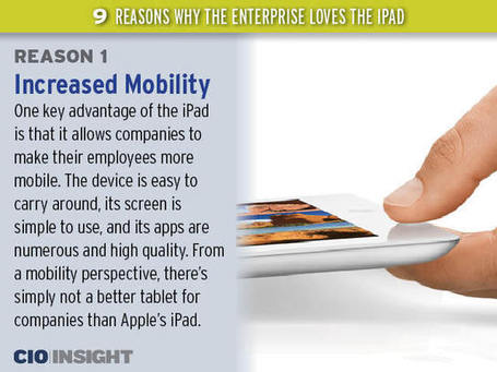 Nine Reasons Why the Enterprise Loves the iPad | iGeneration - 21st Century Education | Scoop.it