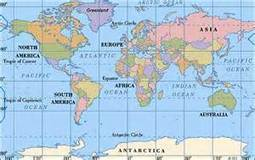 Map of the World | North, South America, and Asia | Scoop.it