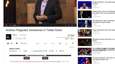 Looper Infinitely Replays Particular Sections of YouTube Videos | Video for Learning | Scoop.it