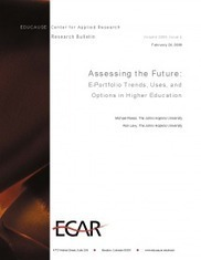 Assessing the Future: E-Portfolio Trends, Uses, and Options in Higher Education | EDUCAUSE.edu | The Benefits & Challenges of ePortfolio Use - ePortfolios for Arts Students | Scoop.it