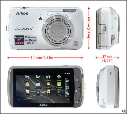 Nikon Coolpix S800c Android camera first look: Digital Photography Review | VIM | Scoop.it
