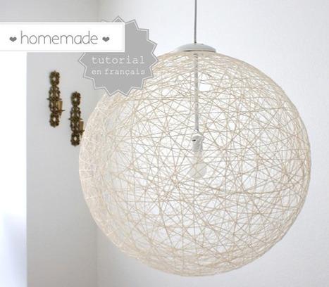 { DIY } De la laine pour une jolie lampe homemade | décoration & déco | Scoop.it
