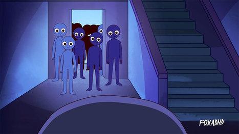"""Dénonçant la dépendance aux réseaux sociaux, cette animation met en scène une fille harcelée par ses """"followers""""   TICE, DOC & MEDIAS   Scoop.it"""