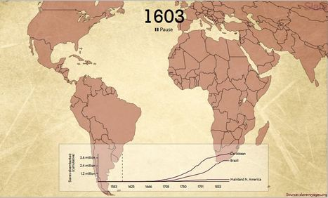 This Haunting Animation Maps the Journeys of 15,790 Slave Ships in Two Minutes | CLIL-DNL History | Scoop.it