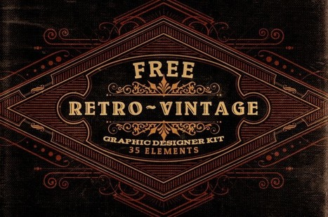 Free Vectors | Retro Vintage Graphic Designer Kit v.2 | Design Freebies & Deals | Scoop.it