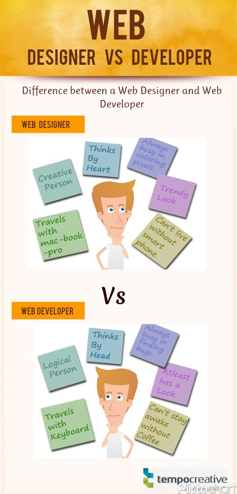 Web Designer Vs Web Developer | Visual.ly | Adobe Illustrator Tutorials | Scoop.it