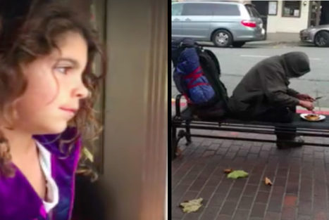 This girl gave her dinner to a homeless man | anonymous activist | Scoop.it